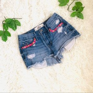 Hollister shorts embroidered pocket
